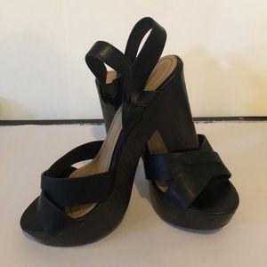 Women's Black platform Sandals 6.5